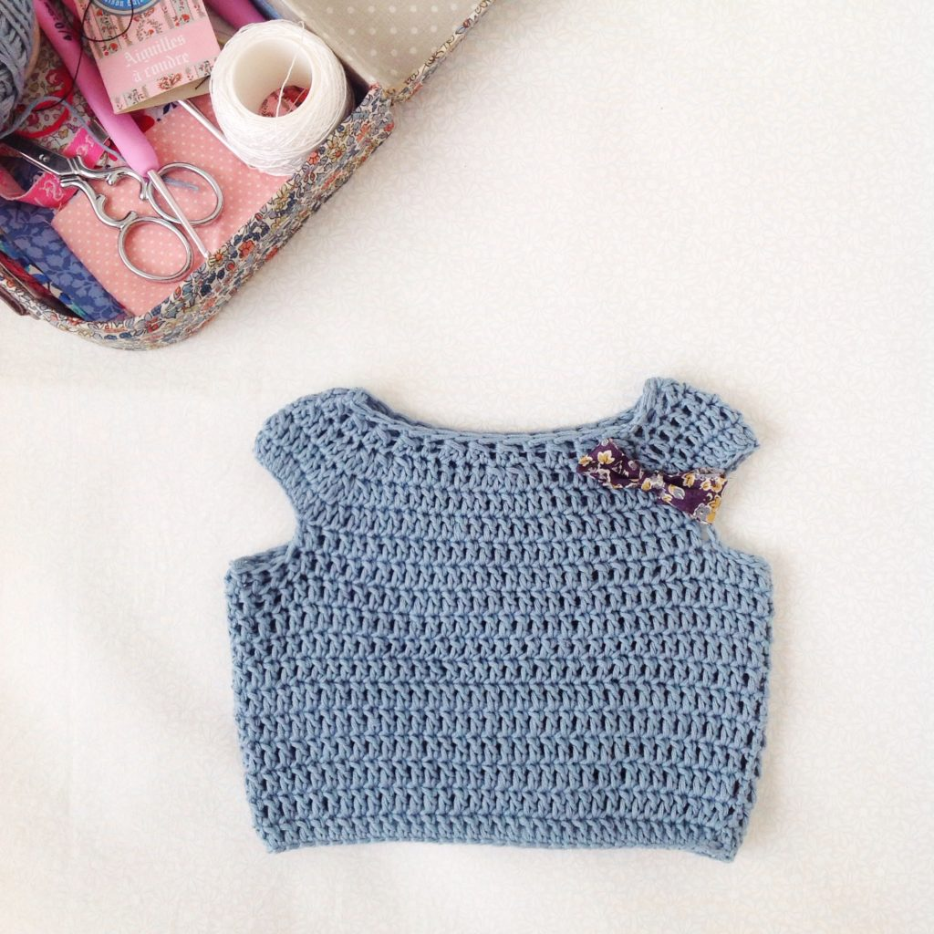 Crochet top for doll 1